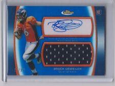 2012 Brock Osweiler Broncos auto Topps Finest Blue jersey #17/99 Jersey #