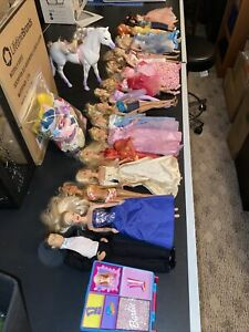 Huge 14 Barbie Doll lot Mattel And Ken Doll