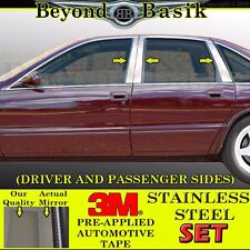 1991-1996 Chevrolet Caprice Impala 6PC STAINLESS STEEL Pillar Posts Overlays