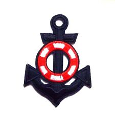 Anchor Navy Sailor  Lifebuoy Embroidered Iron Sew On Applique Patch Badge Sea
