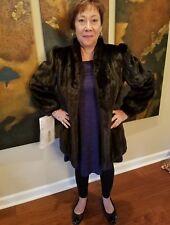Stunningly Gorgeous, Mint Cond. BLACK GLAMA MINK Fur Coat, Hip Length, Medium
