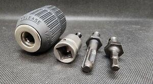 """Schnellspannbohrfutter 1/2""""-20 UNF mit Adapter Set für Akkuschrauber SDS+ & 1/2"""""""