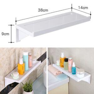 Bathroom Kitchen Wall Shelf Suction Cup Rack Storage Organizer Display Holder UK