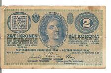 AUSTRIA, 2 KRONEN, 1914