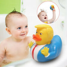 Baby Bath Donald Trump Duck Floats Toy Funny Non-toxic Safe Squeaky Toys Acces