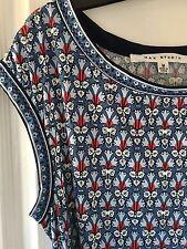 Verano lindo vestido túnica de Max Studio Azul Marino/Rojo/Azul Talla M 10-12 Elástico