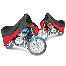Black/Red Motorcycle Motorbike Outdoor Cover Rain Protection Breathable XL