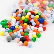El aclaramiento de plástico Mezclado Color Redondo! 8mm-12mm Perlas Cuentas - 800 (300g)