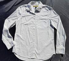 Aeropostale Prince & Fox Womens Shirt  Button Black White Polka Dot Sz M AERO