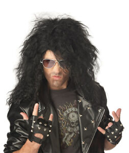 Heavy Metal Rocker Black Wig for Halloween Costume