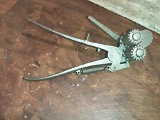 Antique Metal working tool hand crimper bead roller collectible tinsmith Rare