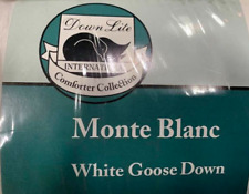 Down Lite Monte Blanc White Goose Down Comforter Twin Size - Clearance