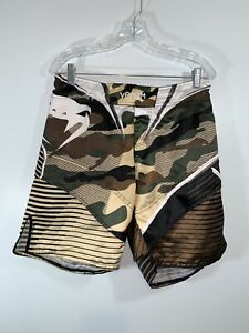 VENUM Men's Shorts MMA Fight Fighter Camo Print Brown Gold Size Large  🔥🔥🔥