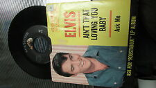 ELVIS PRESLEY RCA VICTOR 45 RPM & PICTURE SLEEVE 47-8440 ROUSTABOUT ASK ME