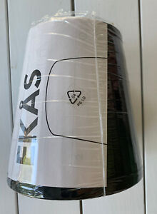 Ikea EKAS Black Lamp Shade 901.189.67 NOS NEW Ribbed Stripe