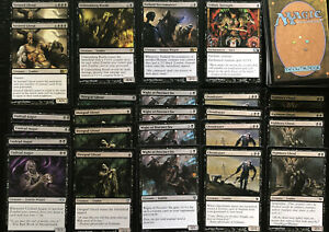 ZOMBIE BLACK DECK, 60 Cards Ready To Play Magic Mtg