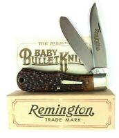 Remington Trapper Knife Baby Bullet Shield Delrin R1173 1983 + Box 5433-OQ