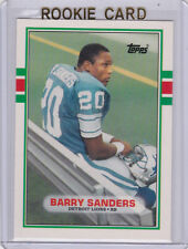 BARRY SANDERS 1989 Topps Traded #83T ROOKIE CARD Detroit Lions Football RC!