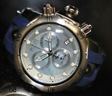 Invicta Men's Rare 6118 Reserve Swiss Chronograph Blue MOP Dial Grey Poly Watch