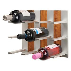 Top Wine Rack - Modular Wine Rack Wall Mounted (Walnut)
