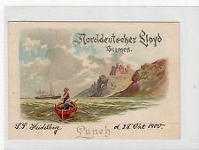 NORDDEUTSCHER LLOYD, BREMEN: Early Germany shipping postcard (C19702)