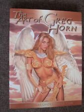 THE ART OF GREG HORN 1 HC with JEAN GREY PHOENIX SKETCH X-Men signed Greg Horn