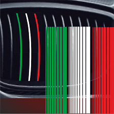3 Aufkleber 23cm x 2-14mm Zier Streifen Racing Nieren Sticker Italien Mafia F