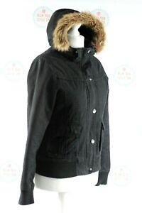 Oneill Santa Cruz California 1952 Ladies Fur Hooded padded Jacket Size L