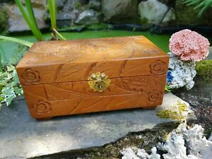 Vintage Chinese Hand Carved Wooden Box