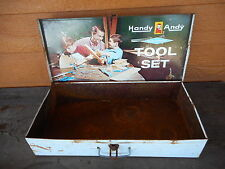 Handy Andy Tool Chest Box Only Blue Diamond Litho Skil-Craft USA no tools