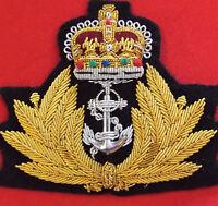1953 - CURRENT ROYAL AUSTRALIAN NAVY OFFICER'S UNIFORM CAP BADGE R.A.N. R.N.