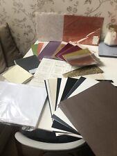 Bundle of Cardstock, Papers, Envelopes, Mirri Card, Peel Offs, Embossed Paper
