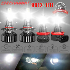 For 2011-2015 Chrysler 300 Led Headlight Hi/Lo+Fog light Combo Bulbs 4pcs white