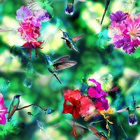 Fabric Hummingbirds by HOFFMAN Digital Print Cotton 1/4 yard H295