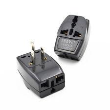 Universal Travel Home EU Europe UK AU to US Power Plug Adapter Converter Black