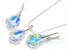 925 Silber Schmuck Set mit Swarovski Elements Kette Kristall Baroque Crystal AB