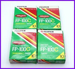 【NEW Expired AS-IS】 4 Packs FujiFilm Fuji FP-100C Instant Color Film #JAPAN 1444
