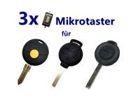 3x Auto Schlüssel Mikrotaster Schalter für Smart FORTWO 450 FORFOUR 451 MC01
