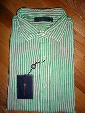 +++nwt Polo Ralph Lauren Long Sleeve 100% Linen Shirt sz XXL+++