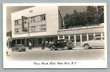 White Rock BC Ocean Beach Hotel RPPC British Columbia—Vintage Photo—Cars Coffee