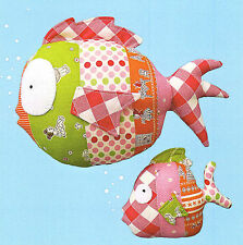 UNDER THE SEA - Sewing Craft PATTERN - Soft Toy Fish Fishes