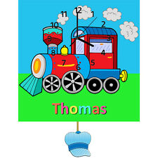 Childrens Personalised Train Wall Clock