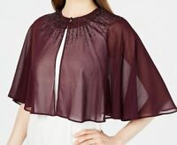 Calvin Klein Womens Jacket Plum Purple Size Large L Chiffon Cape $99- 419