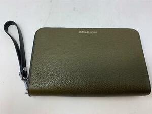 Michael Kors Handbag Clutch Dark Olive Green NEW