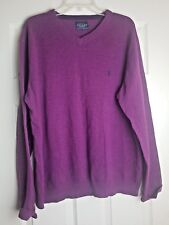 Joules Clothing Men's Purple Long Sleeve V Neck Jumper Pullover Sweater Size XL