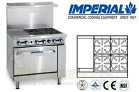 """IMPERIAL COMMERCIAL RESTAURANT RANGE 36"""" W/ 12"""" GRIDDLE OVEN PROPANE IR-4-G12-P"""