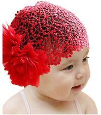 Bebé Cinta Pelo Encaje de NIÑAS Adorno Para Cabello Fotoshooting Rojo Rosa