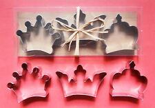 """3"""" Crown baking pastry metal stainless steel metal cookie cutter set"""