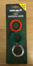 GARDEN WIRE PACK OF 3 X 10M ROLLS FOR TYING FIXING CLIMBING PLANTS AND SHRUBS