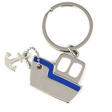 2pcs Steamship Steamboat Ship Anchor Model Key Chain Ring Keychain Key Fob